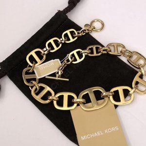 NEW Michael Kors GOLD Maritime Link Necklace $175